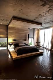 apartment gorgeous decoration with parquet flooring bedroom
