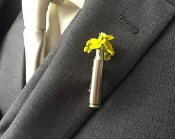 boutineer cost silver boutonniere etsy