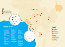 Los Angeles Regions Map by Silicon Beach A Who U0027s Who And What U0027s Where Map U2013 Variety