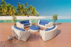 White Patio Furniture Set Fiber Sofa Sectional Patio Furniture Set 1