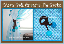 yarn ball curtain tie backs youtube