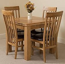 Solid Oak Dining Table Richmond Small Extending Solid Oak Dining Table With 4 Solid Oak