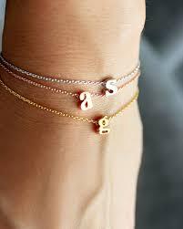 initials bracelet initial bracelet lowercase gold silver letter bracelet