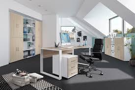 Eckschreibtisch Mehr Als 200 Angebote Röhr Direct Office Schreibtisch Set Eiche Weiß Möbel Letz Ihr