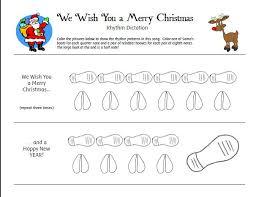 christmas rhythm dictation sheets pianimation