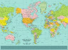 Upside Down World Map This World Map Pin Points 1 200 Songs Right Where They Should Be