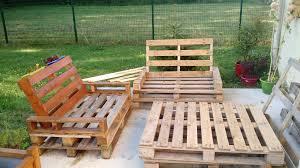 canapé de jardin en palette enchanteur salon en palette avec beau meuble jardin palette bois et