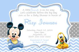 baby mickey baby shower baby mickey mouse baby shower invitations partyexpressinvitations