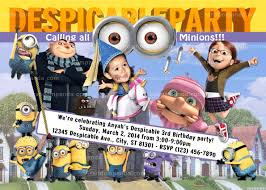 pictures of purple minion birthday invitations party themes