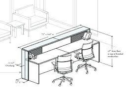 Standard Reception Desk Height Office Desk Dimensions Medium Size Of Standard Reception Desks
