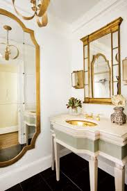 the enchanted home gold bathroom mirror sink french style decor