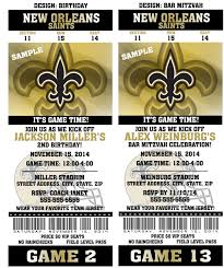printable birthday party invitation card new orleans saints