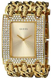 gold tone bracelet images Guess women 39 s u0085l1 rocker glitz multi chain gold jpg