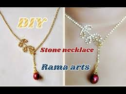 make necklace with stone images Stone necklace how to make necklace jewellery tutorials jpg