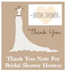 bridal shower thank you notes thank you messages bridal shower