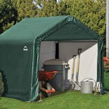 Canopy Storage Shelter by Shelter Logic Peak Style Storage Shed 6x6 Garden Street