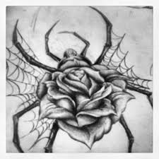 spider web rose tattoo designs pictures to pin on pinterest