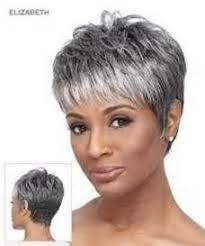 salt and pepper pixie cut human hair wigs silver haired beauties gray aging gracefully pinterest
