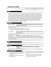Resume Objective Financial Analyst Sample Resume With Objective Resume Objective Examples