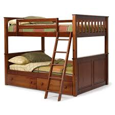Solid Wood Bunk Beds With Storage Broken White Solid Wooden Loft Bunk Bed Using Chrome Metal Stair