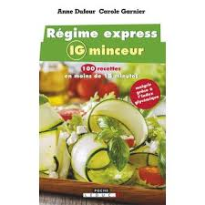 livre cuisine minceur régime express ig minceur 100 recettes en moins de 15 minutes