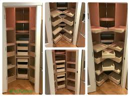 custom pull out shelves for your corner pantry from shelfgenie of
