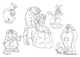 belle beauty and the beast colouring pages free coloring pages