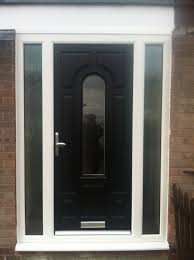 Patio Doors With Side Windows by Upvc Glass Front Doors Image Collections Glass Door Interior