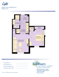 500 Sq Ft Studio Floor Plans by Apartment Homes At Twin Towers Senior Living Community Life