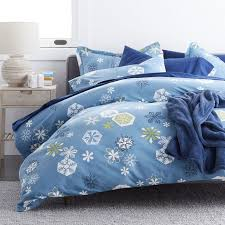 snowflake 5 oz flannel duvet cover the company store