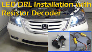 What Are Drl Lights Honda 9005 Led Drl Daytime Running Light Install With Load