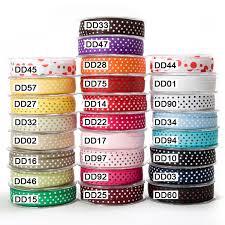 grosgrain ribbon wholesale 5 8 inch grosgrain dots ribbon may arts wholesale ribbon