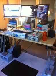 Black Computer Desk Computer Desk For Tall People
