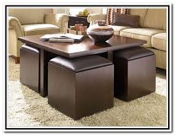 Coffee Table With Stools Aralsacom - Kitchen table with stools underneath