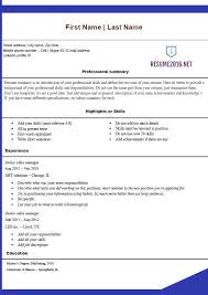 Resume Templates For Microsoft Office Free Resume Templates 2016 Microsoft Office Blue Template
