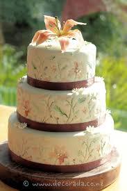 woodland wedding cake three tier