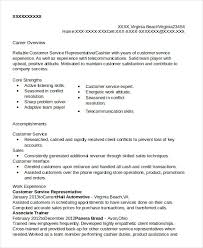 Accomplishments In Resume Customer Service Representative Resume 9 Free Sample Example