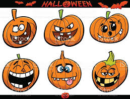 halloween pumpkins cartoon set stock vector art 491248130 istock