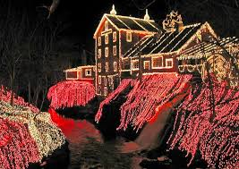 clifton ohio christmas lights christmas lights at clifton mill in ohio surround the waterfall