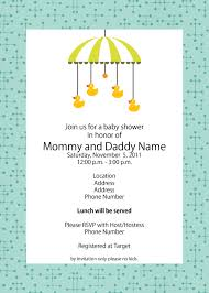 Babyshower Invitation Card Color Baby Shower Invite Templates