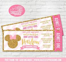 Pink And Black Minnie Mouse Decorations Best 25 Minnie Mouse Birthday Invitations Ideas On Pinterest