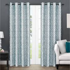 Teal Patterned Curtains Curtains U0026 Window Treatments Walmart Com