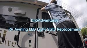 Rv Awning Led Lights Dnsadventures Rv Awning Led Light Strip Install Youtube