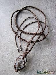 necklace hemp images Raw quartz necklace healing crystal from high on hemp jpg