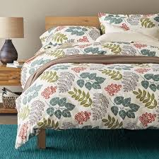 awesome bed of leaves flannel duvet cover sham goodglance within