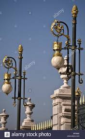up of the ornamental lights outside the royal palace