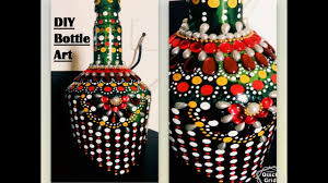 diy room decor easy way to decorate empty bottle with dot art