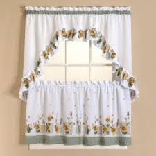Curtains Set Sunflower Tier Curtains Set Curtain Drapery