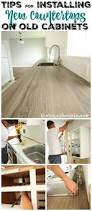 How To Lay Ikea Laminate Flooring How To Install New Countertops On Old Cabinets The Happy Housie