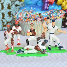 baseball cake toppers baseball team cake topper 6 players arts crafts